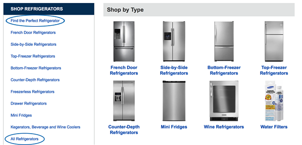 Appliance comparison