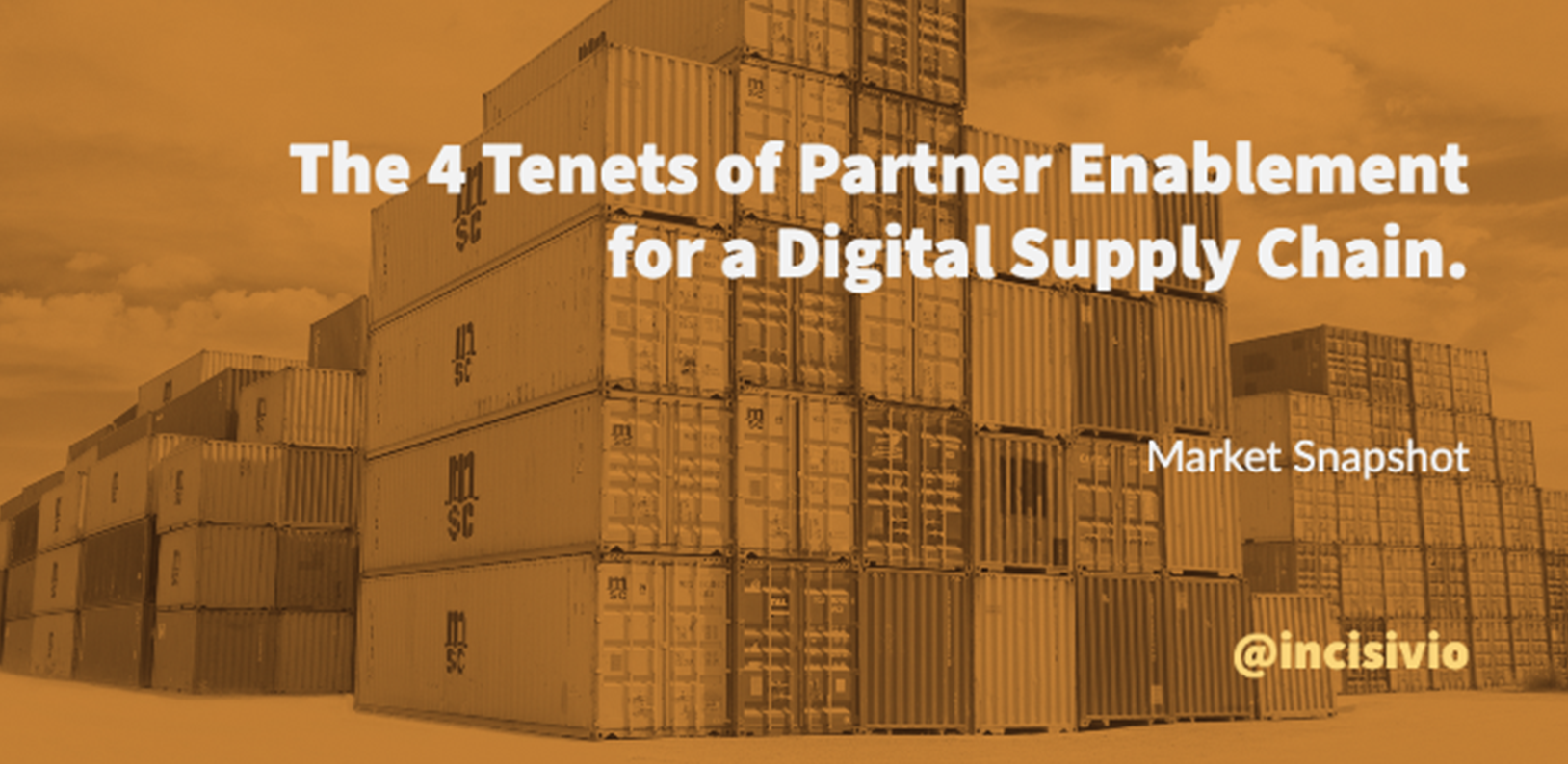 The 4 Tenets of Partner Enablement for a Digital Supply Chain