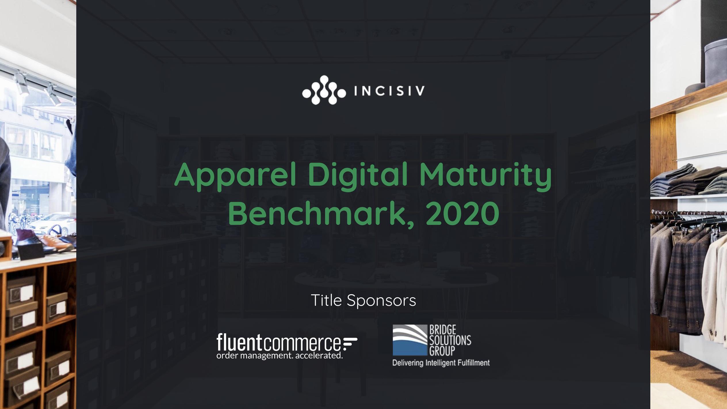 Apparel Digital Maturity Benchmark, 2020